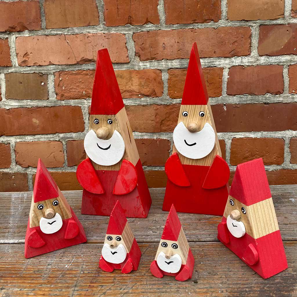 Weihnachtsmann Deko aus der sbr gGmbH Holzwerkstatt