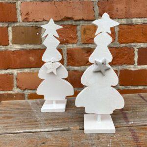 Weihnachtsbaum weiss Deko aus der sbr gGmbH Holzwerkstatt