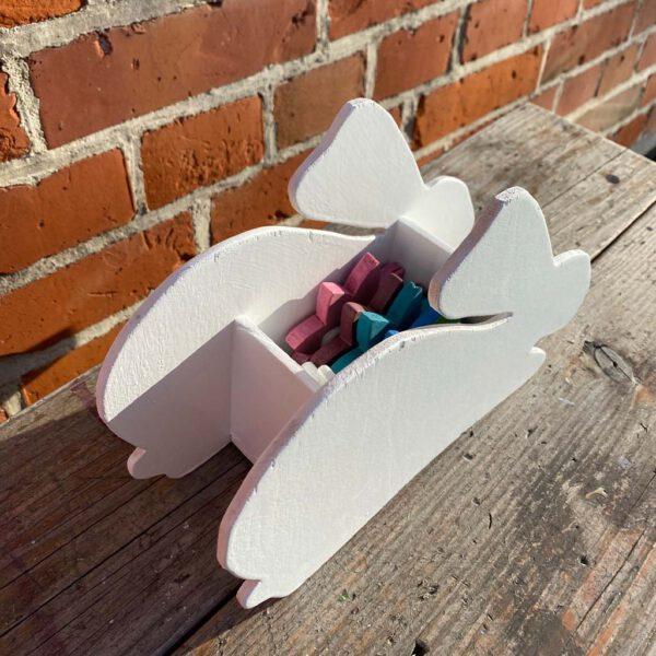 Hasenbehälter aus der sbr gGmbH Holzwerkstatt